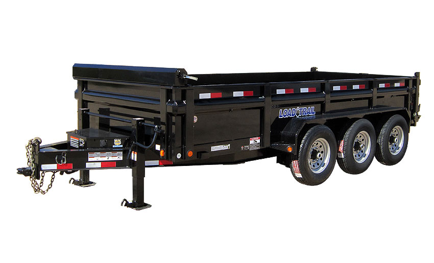 "2016 Load Trail 83"" x 16' Low Pro Triple Axle Dump (with scissor lift)"
