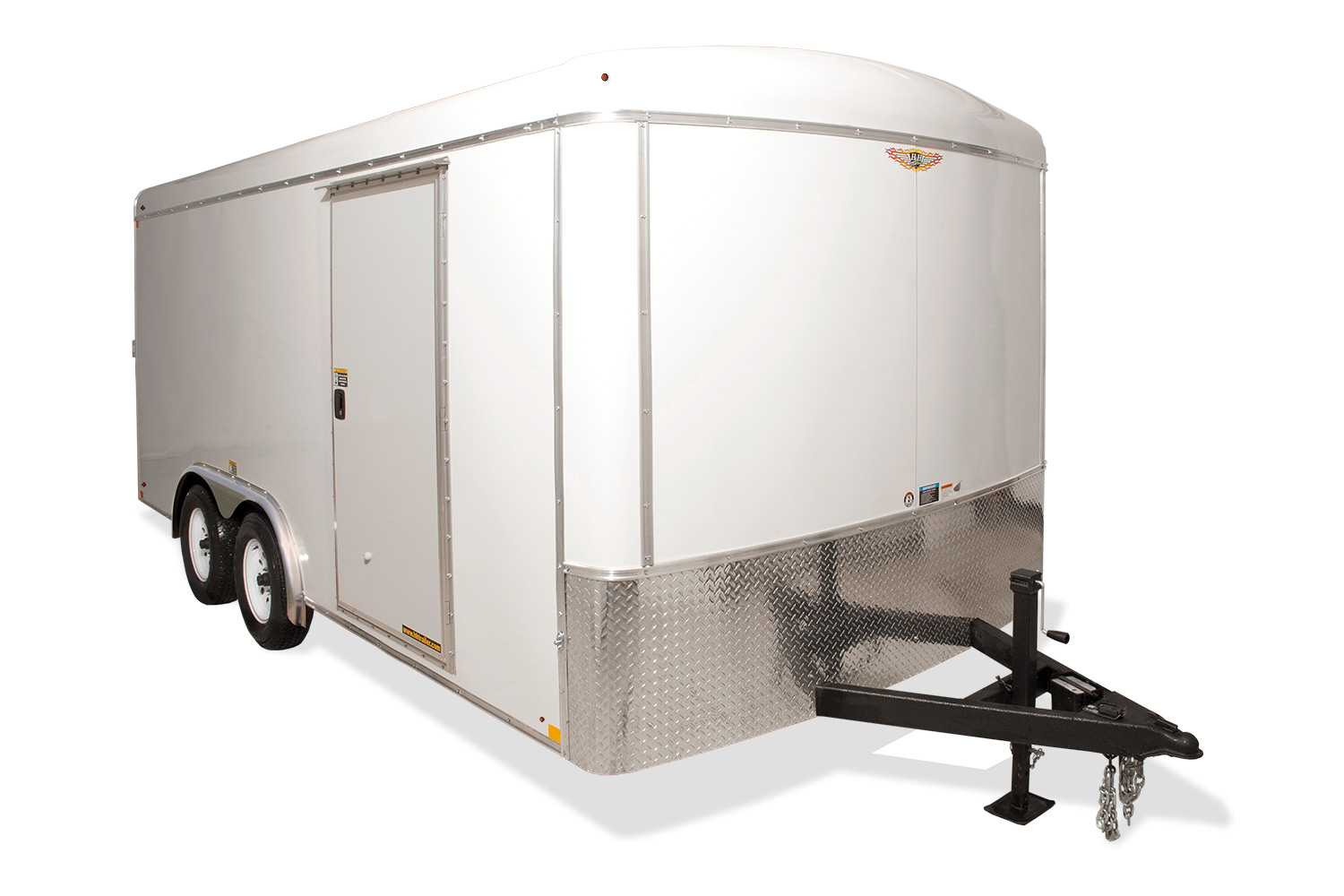 2019 H and H Trailer 101X18 TANDEM RND TOP HH RNOSE 10K CARGO