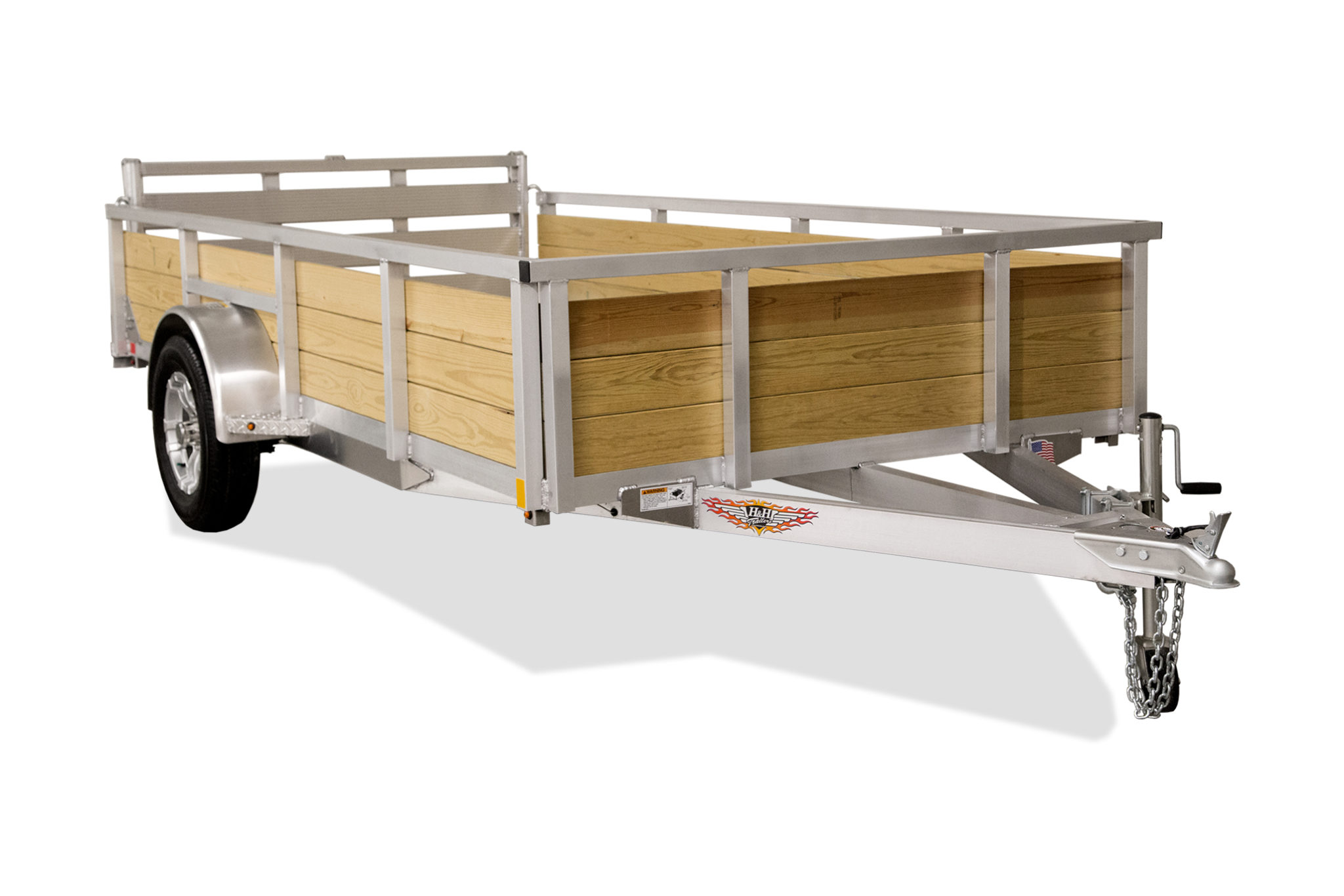 2020 H and H Trailer 8.5(82)X12 WOOD-SIDE ALUM 3K