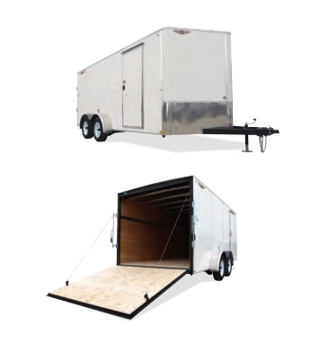 2019 H and H Trailer 7X14 TANDEM FLAT TOP HH VNOSE 7K CARGO