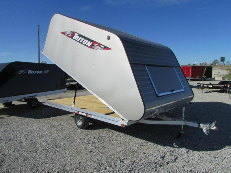 2018 Triton Trailers XT 12 Tlt Style Snowmobile Trailer W/Cover