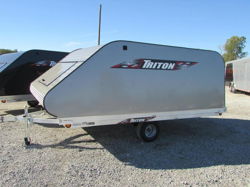 2019 Triton Trailers XT 12 Tlt Style Snowmobile Trailer W/Cover