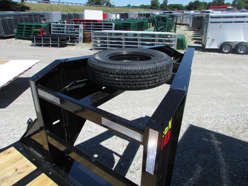 2019 Big Tex Trailers 25 ft Mega Ramps Gooseneck Flatbed Trailer