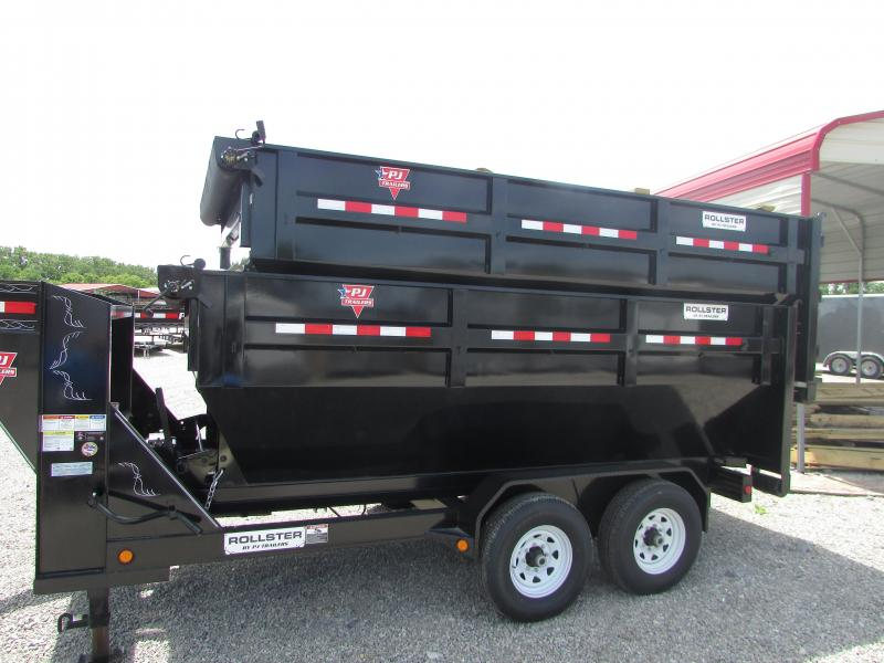 2019 PJ Trailers 14 Roll Off W/2 Bins Dump Trailer