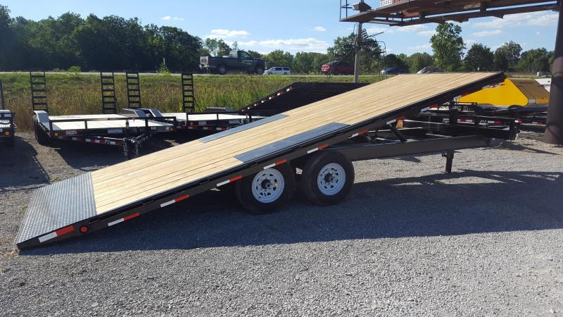 2018 PJ Trailers 22 Equipment Power Tilt Flatbed Trailer