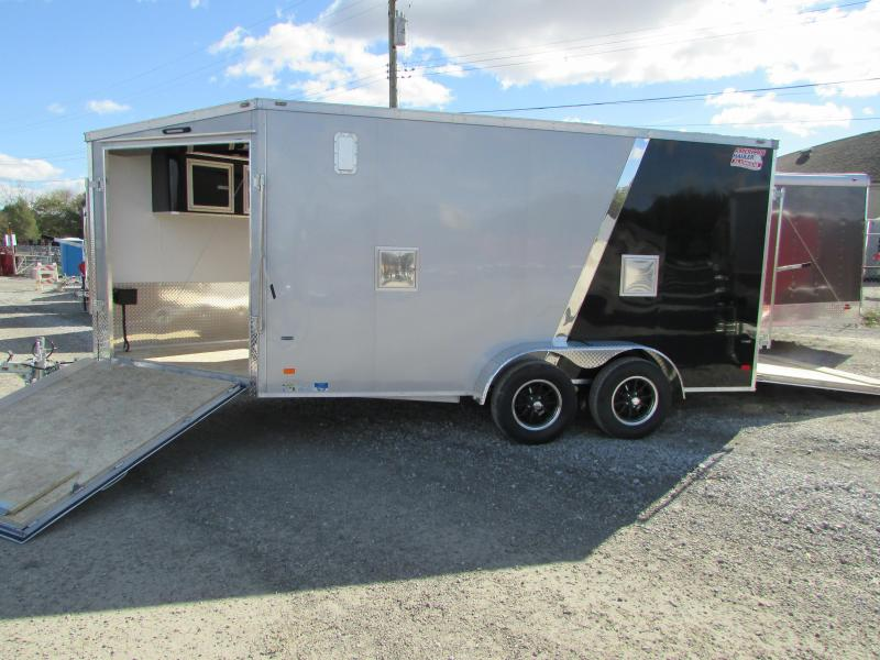 2019 American Hauler Industries 7 X 19 Snowmobile Enclosed Cargo Trailer