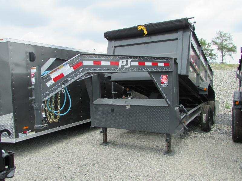 2019 PJ Trailers 14 ft High Side Gooseneck Dump Trailer