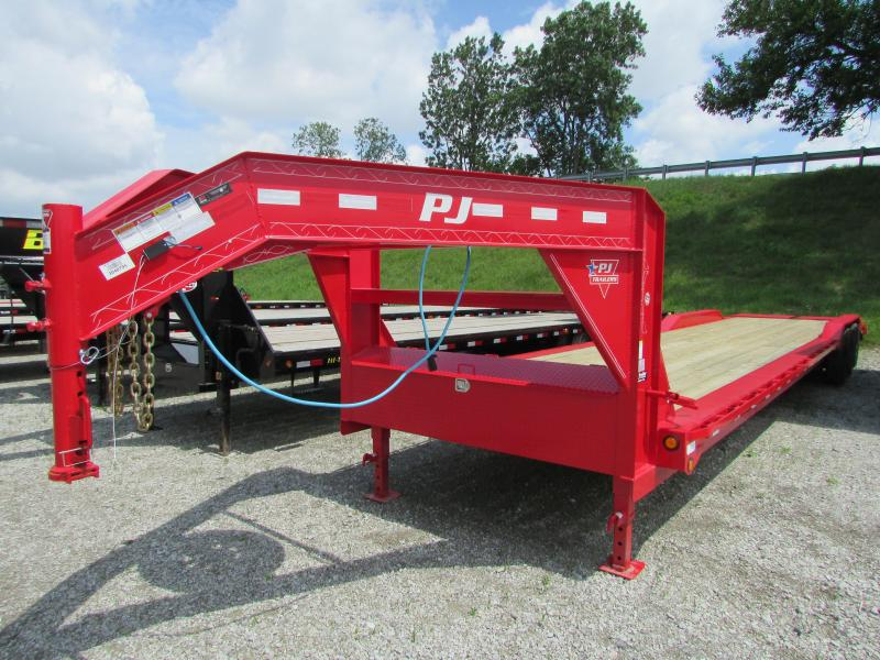 2020 PJ Trailers 40 ft Gooseneck Drive Over Fender Flatbed Trailer