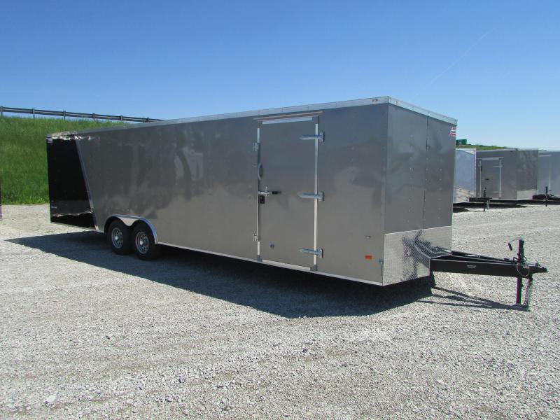 AMERICAN HAULER 28' ENCLOSED CARHAULER TRAILER