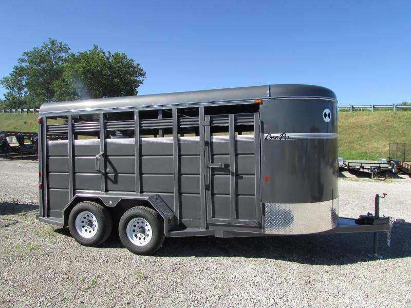 2019 CornPro Trailers 16 Stock Horse Livestock Trailer