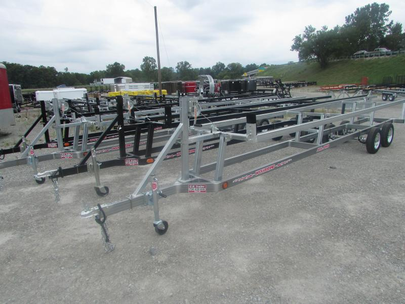 2018 Wolverine Trailers 24 Galvanized Crank Up Pontoon Boat Trailer