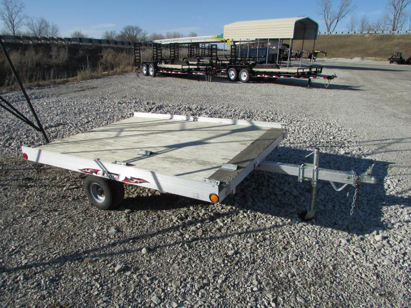 Aluminum 2 Place Inline Atv Trailer 6 X 16 The Deck Is Only 6ft Wide Which Allows For To Tuck In Behind Tow Vehicle Less Wind Resistance