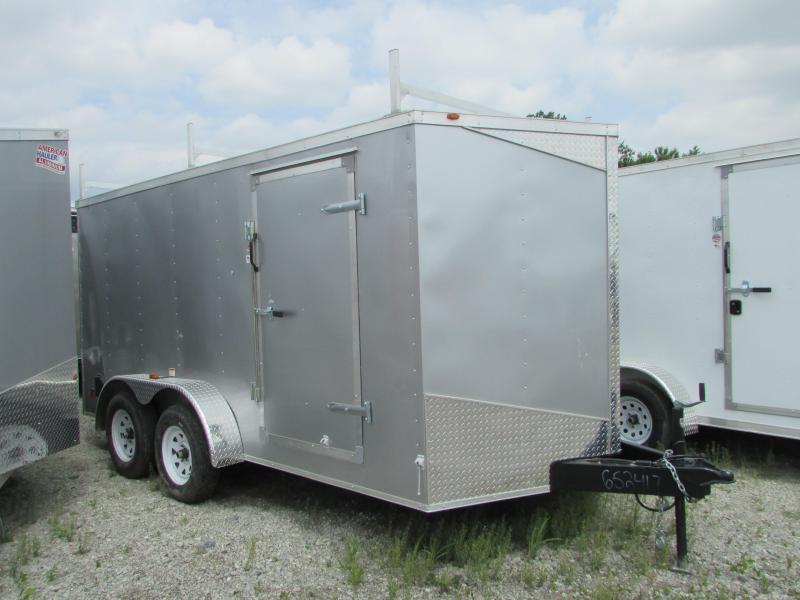 2019 RC Trailers 7 X 14 Ramp Door Ladder Racks Enclosed Cargo Trailer in Ashburn, VA