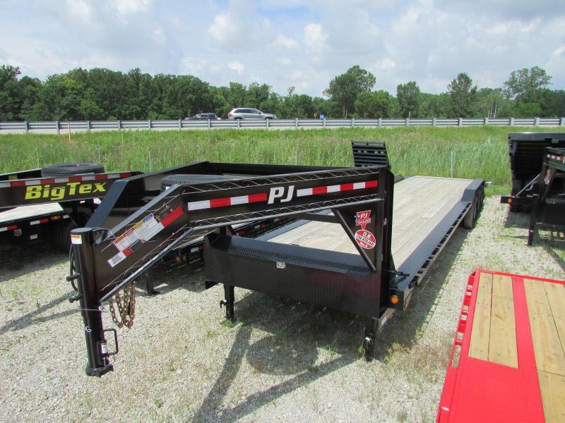2019 PJ Trailers 36 ft Drive Over Fender Gooseneck Flatbed Trailer