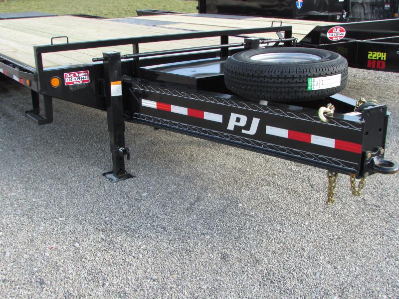 2019 PJ Trailers 25 Equipment w/Monster Ramp Flatbed Trailer in Ashburn, VA