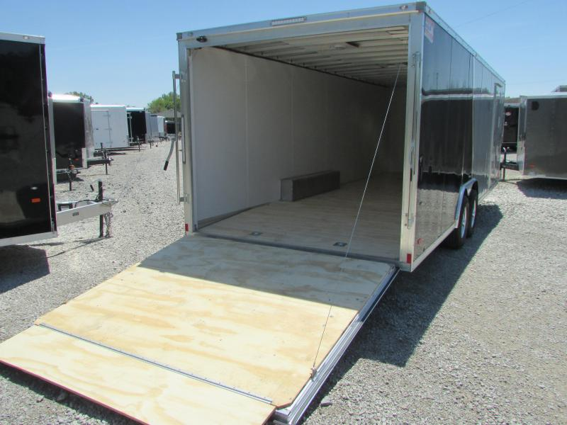 AMERICAN HAULER 24' ALUMINUM ENCLOSED CARHAULER TRAILER