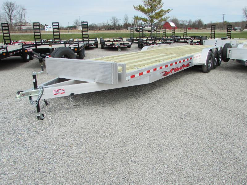 2019 Wolverine Trailers 34 Tri Axle 2 Place Carhauler Flatbed Trailer