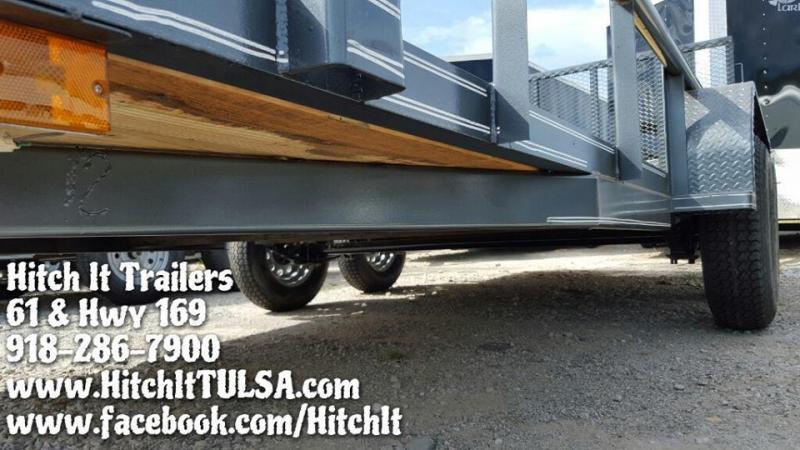 Charcoal 77x16 Pipetop Utility Trailer w/ Rampgate
