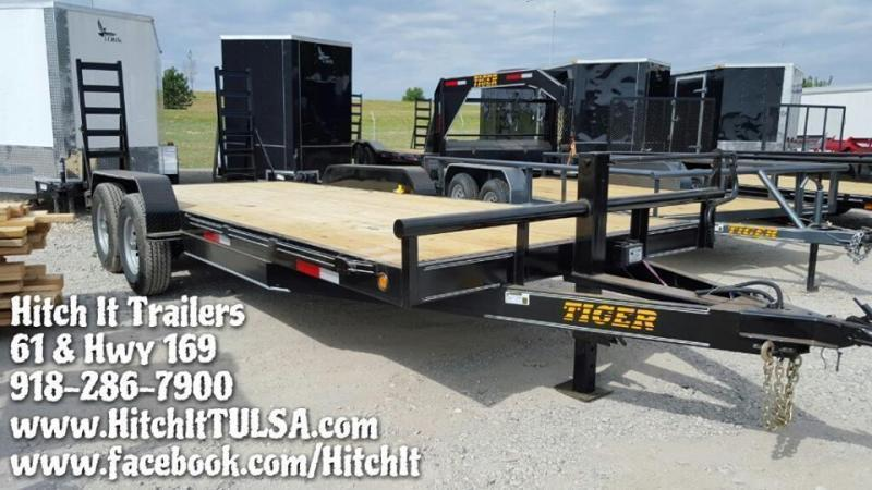 83 x 20 Heavy Duty Charcoal Flatbed Trailer Tandem 7000#