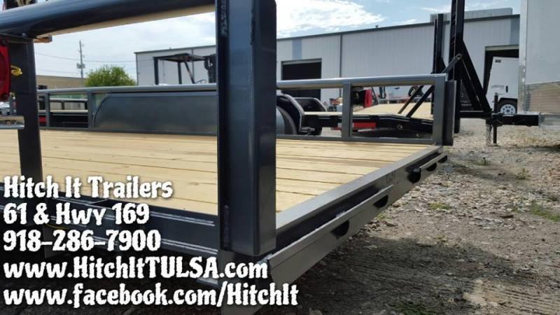 77x16 Pipetop Utility Trailer W/ Slide In Ramps BLACK