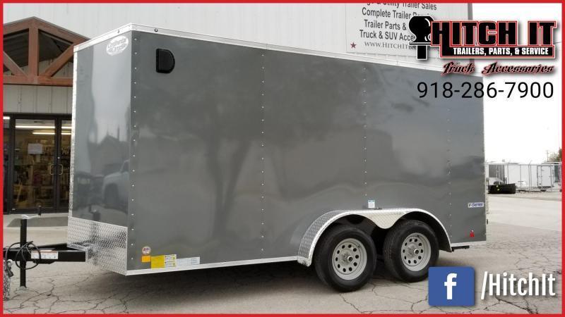 2020 Continental Cargo 7 x 14 + v-nose  Enclosed Cargo Trailer
