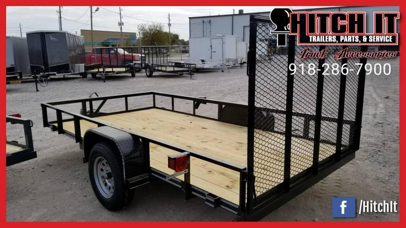 5X10 Utility Trailer Single Axle **FULL WRAP TONGUE**  w/ RAMP Gate