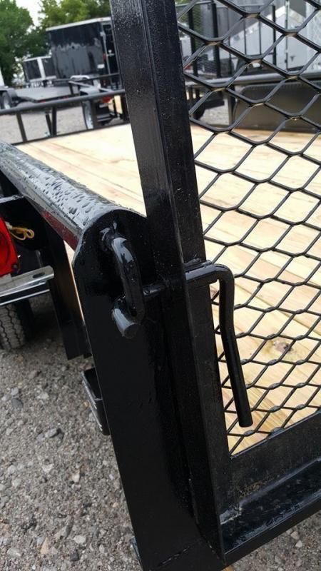 Tiger 77 X 12 Tandem Axle Charcoal Utility Trailer w/ Ramp Gate 3500 lb axles