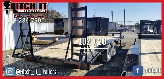 2018 Tiger 102 X 20 Heavy Equipment Trailer with Drive Over Equipment Trailer