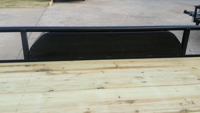 Black 77x16 Pipetop Utility Trailer w/ Rampgate