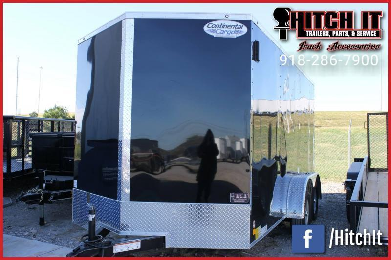 2019 Continental Cargo 7 x 18 + v-nose  Enclosed Cargo Trailer