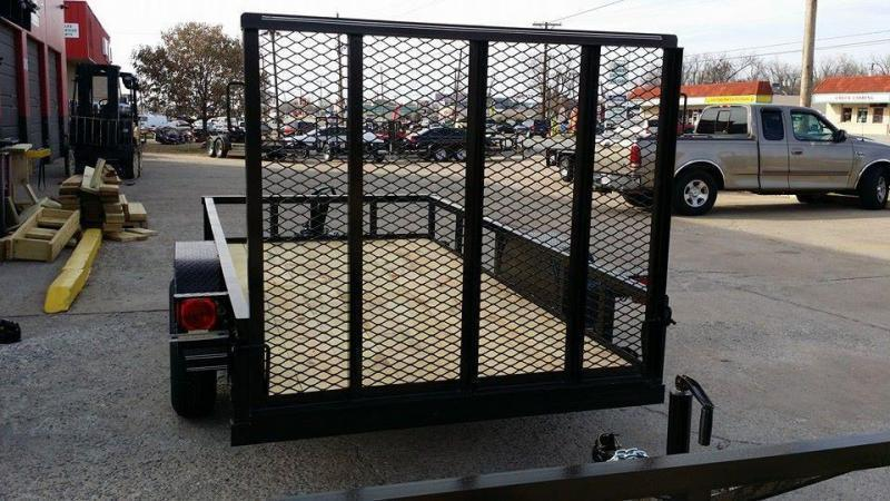 5 x 10 Black Utility Trailer w ramp