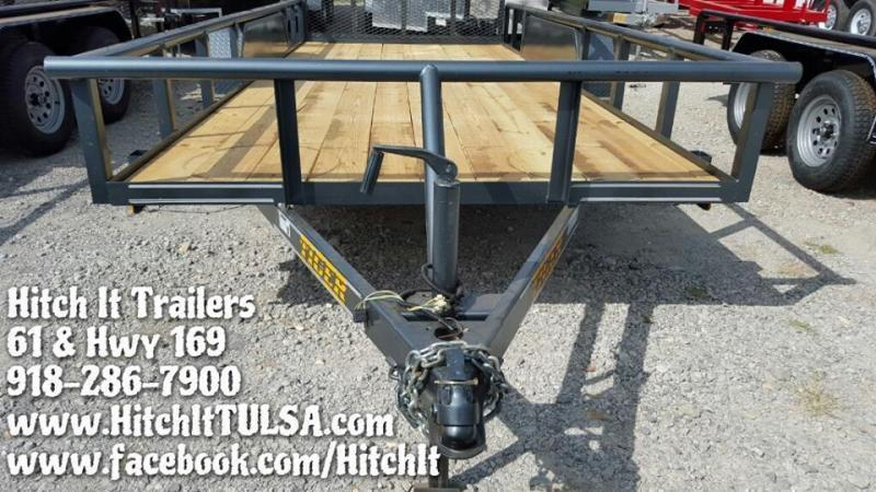 Charcoal 83x16 Pipetop Utility Trailer w/ Rampgate