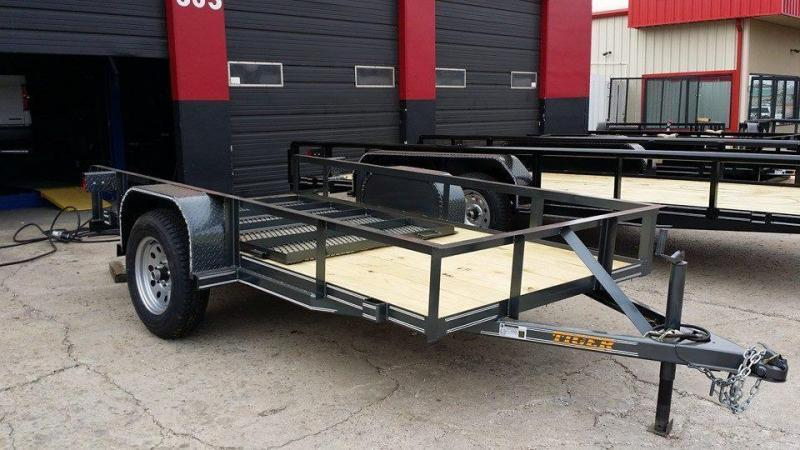5 x 10 Black Utility Trailer w/ Rear Ramp Gate