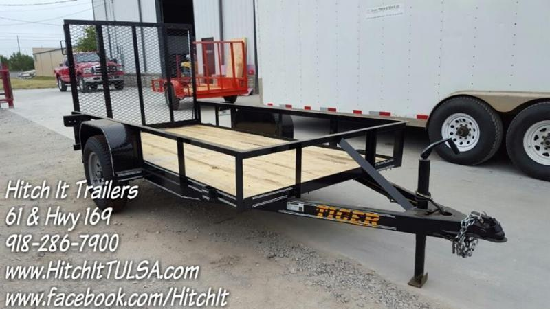 5 x 10 Black Utility Trailer w/ Rear Ramp Gate