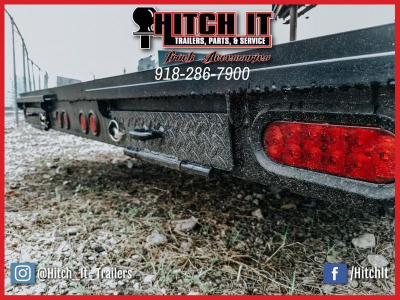 83 x 18 Flatbed Car Hauler Trailer Brakes Bulldog 3500k axles slide in ramps