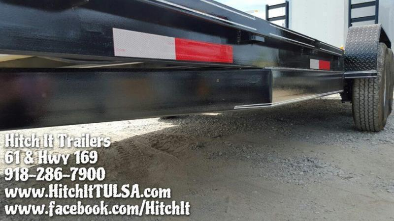 83 x 20 Charcoal Heavy Duty Flatbed Trailer Tandem 7000#