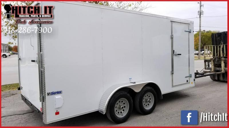 2019 Continental Cargo 7 x 12 + v-nose  Enclosed Cargo Trailer