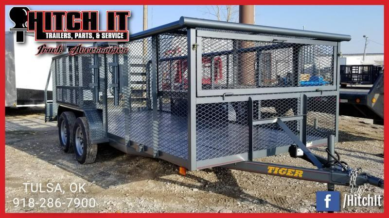 2018 Tiger 83 x 16 Landscape Trailer w/ HD TRACTOR Gate