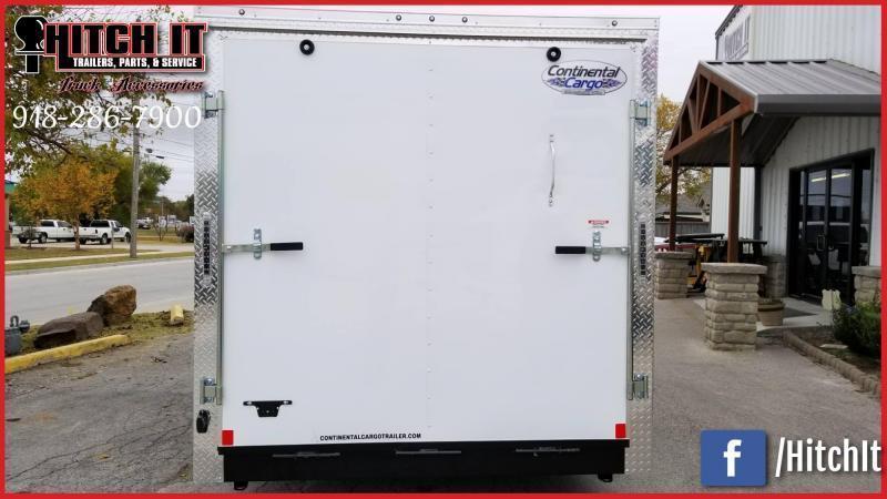 2020 Continental Cargo 7 x 12 + v-nose  Enclosed Cargo Trailer