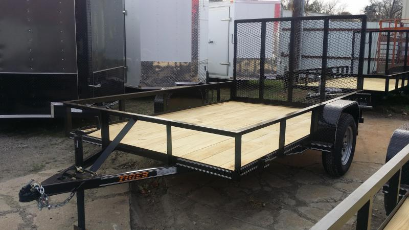 NEW 77 X 10 Utility Trailer *FULL WRAP TONGUE *RADIAL TIRES *RAMP GATE