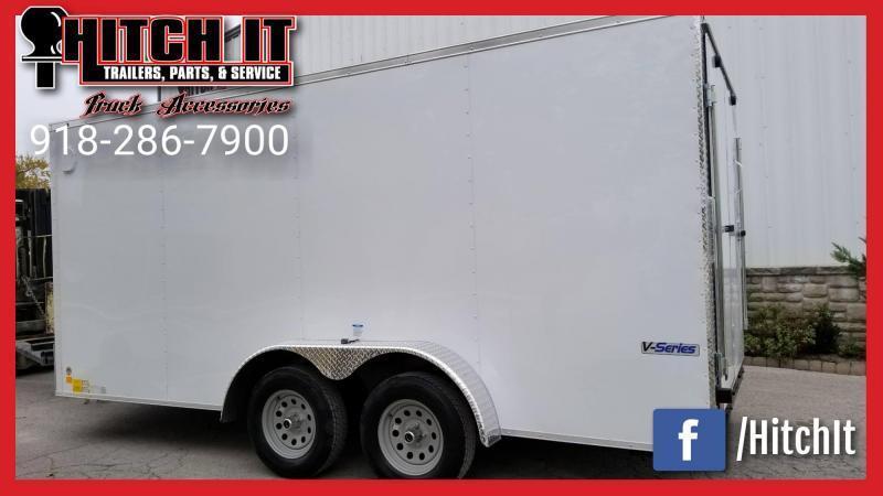 2019 Continental Cargo 7 x 18 + v-nose  Enclosed Cargo Trailer