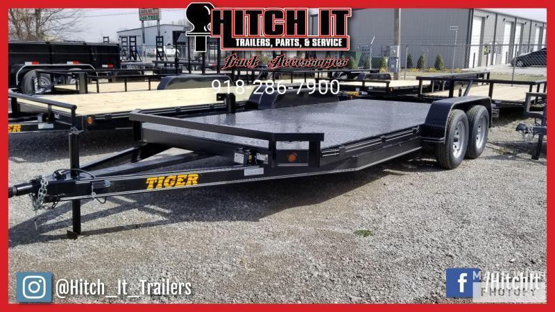 83 x 18 Steel Floor Flatbed Car Hauler Trailer @Hitch It Trailers 61 & Hwy 169 Tulsa
