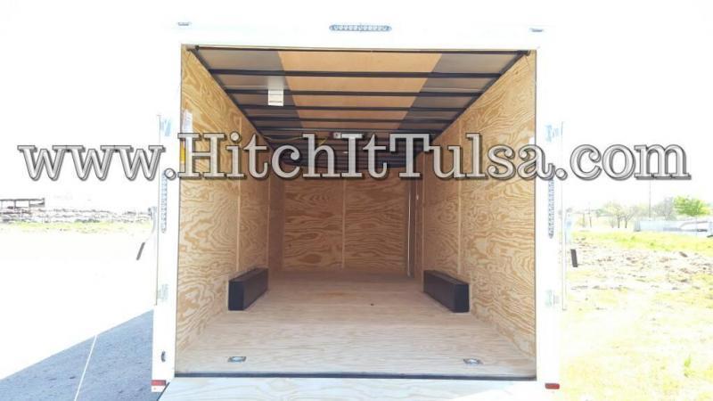 2018 Lark 8.5 x 28 + V-nose Enclosed Cargo Car Hauler Trailer w/ 7000# Axles 7' Tall