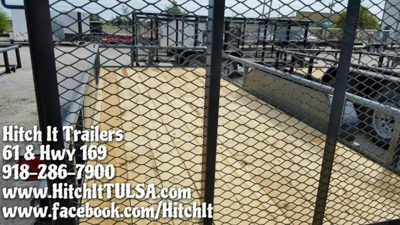 Charcoal 77 x 16 Pipetop Utility Trailer w/ Rear Ramp Gate