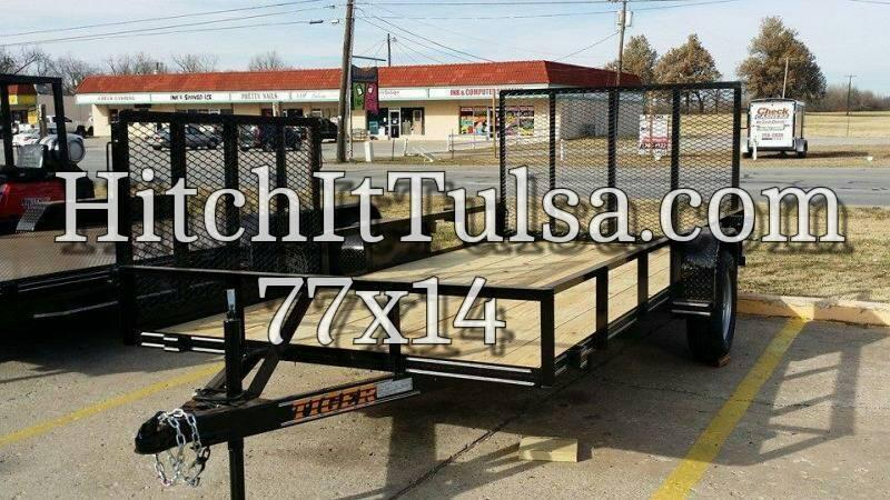 77 X 14 Utility Trailer w/ Ramp Gate