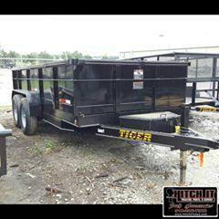 83 x 14 Bumper Pull Dump With Tarp Kit Trailer 7k Tandem 2 cylinder