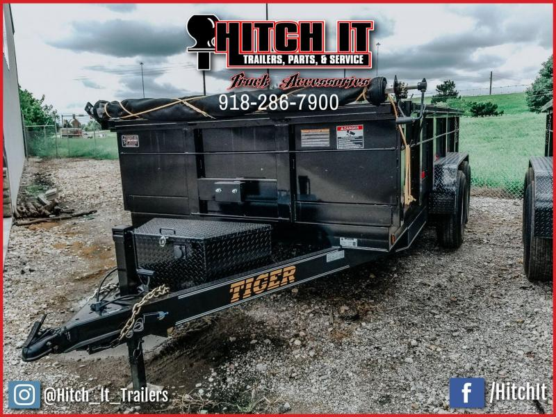 Tiger 83 X 14 Bumper Pull Dump With Tarp Kit Trailer 7k Tandem 2