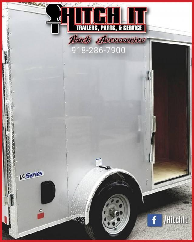 2019 Continental Cargo 6 X 10 + V-nose  Enclosed Cargo Trailer