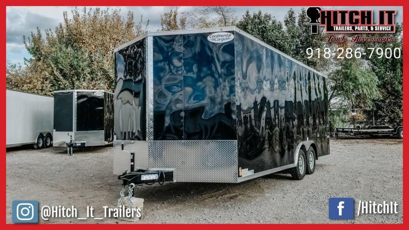 2019 Continental Cargo 8.5 x 20 + V-nose Enclosed Cargo Car Hauler / Racing Trailer