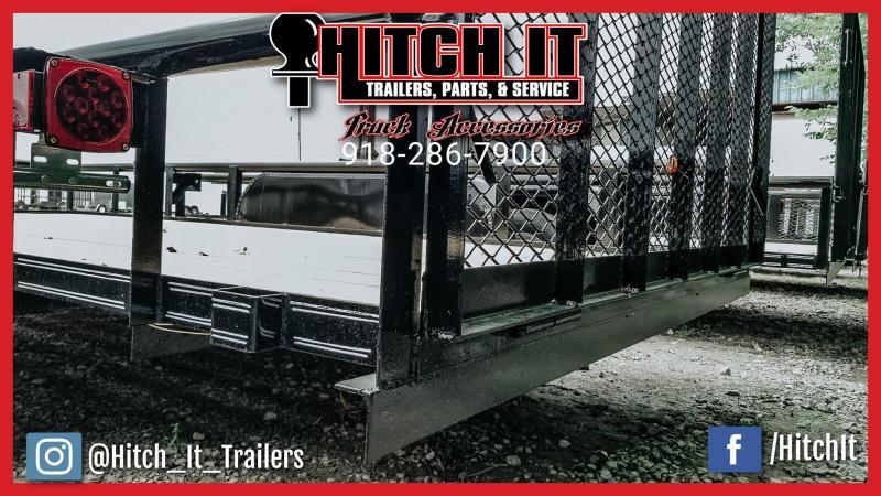 Black 83 x 16 Pipetop Utility Trailer w/ Ramp Gate